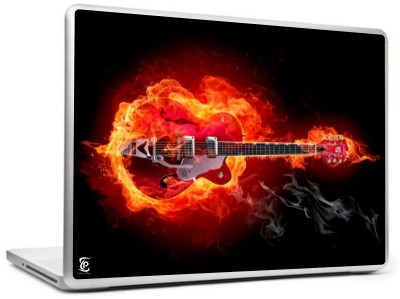 Print Shapes Electric guitar in fire Vinyl Laptop Decal 15.6  available at flipkart for Rs.199