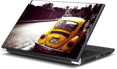 Artifa Yellow Volkswagen Vinyl Laptop Decal 15.6