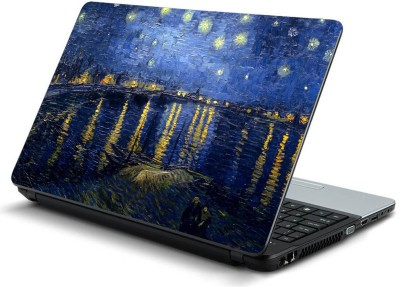 Psycho Art Oil Painting Beautiful Sky Vinyl Laptop Decal 14.1  available at flipkart for Rs.198