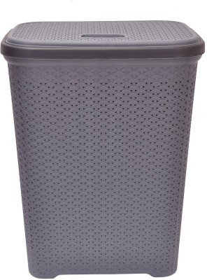 Polyset 20 L Grey Laundry Basket(PLASTIC) at flipkart