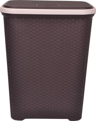 Polyset More than 20 L Brown, Beige Laundry Basket(A Grade Plastic) at flipkart