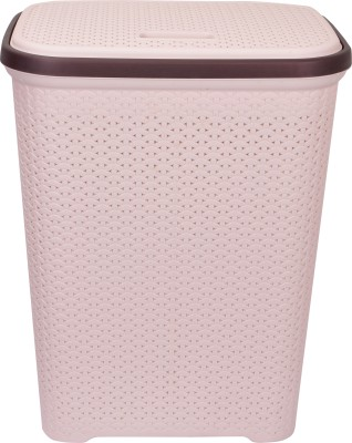 POLYSET More than 20 L Beige Laundry Basket(A Grade Plastic) at flipkart