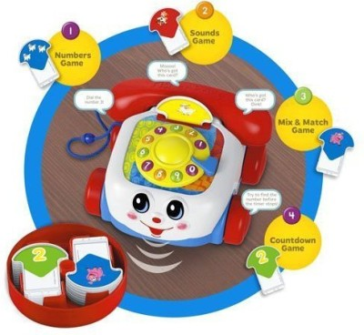 Fisher-Price Chatter Phone Talking Game(Multicolor)  available at flipkart for Rs.3607