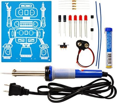 Elenco Led Robot Blinker Soldering Kit With Iron And Solder(Multicolor)  available at flipkart for Rs.3576