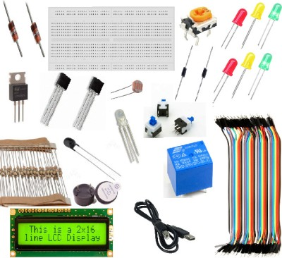 Robomart Quick Starter Kit for Arduino(Red, Yellow)  available at flipkart for Rs.599
