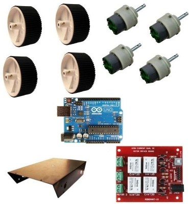 Robomart Robowar Kit Using Arduino Uno(Red)  available at flipkart for Rs.1999