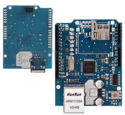Robomart Ethernet Shield W5100 for arduino UNO Mega(Blue)  available at flipkart for Rs.699