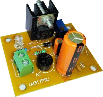 Surya El LM317 BASED VARIABLE POWER SUPPLY BOARD(Multicolor)  available at flipkart for Rs.195