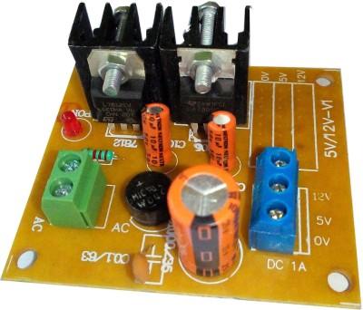 Surya El 5V AND 12V REGULATED POWER SUPPLY BOARD(Multicolor)  available at flipkart for Rs.190