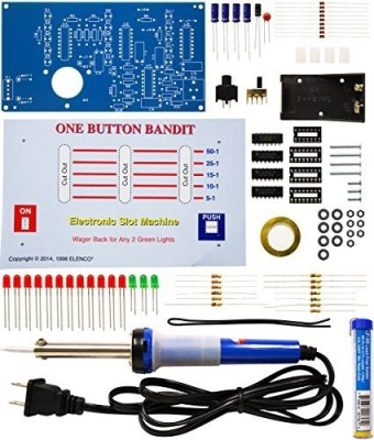 Elenco One Button Bandit Soldering Kit With Iron And Solder(Multicolor)  available at flipkart for Rs.3629