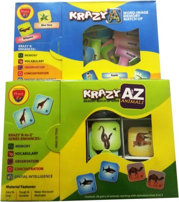 Mind Wealth Krazy Caombo Games Set 9 (A to Z Animals and Word Image)(Multicolor)  available at flipkart for Rs.392