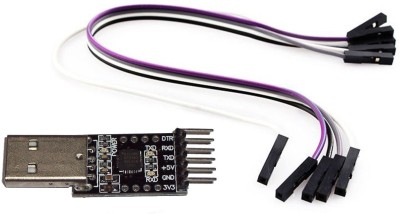 Robodo Cp2102 Usb 2.0 To Ttl Uart Serial Converter Module With Dtr Pin (Can Be Used As Arduino Programmer Adapter) With Jumper Wire(Black)