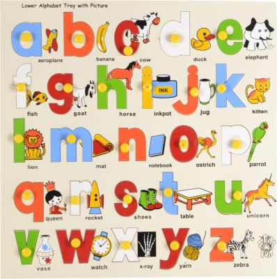 3% OFF on Skillfun Lower Abc Alphabet Shape Tray with Picture Knobs