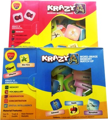 Mind Wealth Krazy Caombo Games Set 8 (Krazy A and Word Image mm)(Multicolor)  available at flipkart for Rs.392