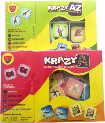 Mind Wealth Krazy Combo Games Set 7 (A to Z Animals and Krazy A mm)(Multicolor)  available at flipkart for Rs.560