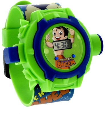Vente Chota Bheem Projector Digital Watch With 24 Images for Kids(Multicolor)  available at flipkart for Rs.166