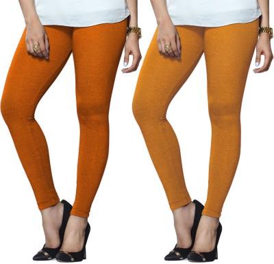 Lux Lyra Legging(Orange, Yellow, Solid) at flipkart