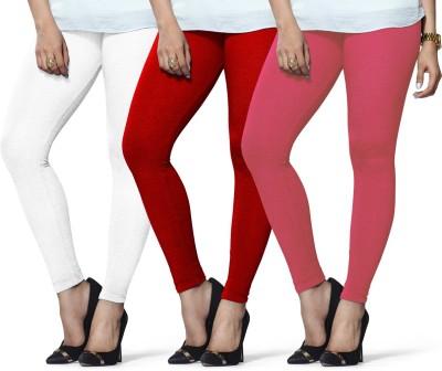 Lux Lyra Legging(Red, White, Pink, Solid) at flipkart