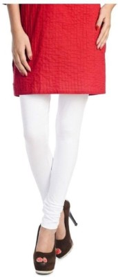 Dimpy Garments Churidar  Legging(White, Solid) at flipkart