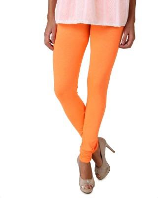 Fasense Legging(Orange, Solid) at flipkart