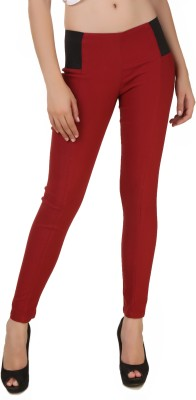 Fame16 Maroon Jegging(Solid) at flipkart