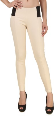 Fame16 Beige Jegging(Solid) at flipkart