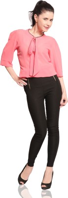 Miss Chase Black Jegging(Solid) at flipkart