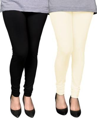 PAMO Legging White, Black, Solid PAMO Women's Leggings and Churidars