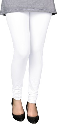 People Ankle Length Legging(White, Solid)