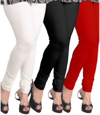 BuyNewTrend Legging(White, Black, Red, Solid)