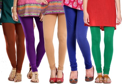 Rashi Churidar  Legging(Brown, Purple, Beige, Blue, Green, Solid)