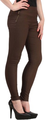 Aditi Fashion Ankle Length  Legging(Red, Brown, Solid)