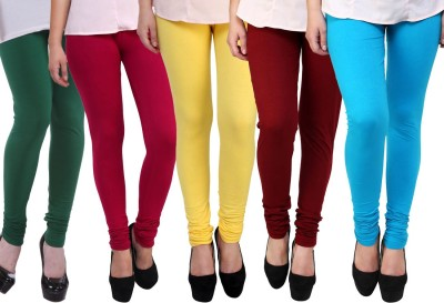 FnMe Legging Multicolor, Solid FnMe Women's Leggings and Churidars