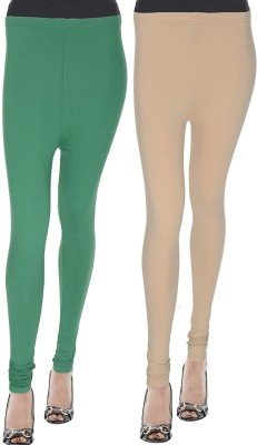 Modish Look Churidar  Legging(Green, Solid)  available at flipkart for Rs.399
