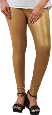 Comfort Lady Ankle Length Ethnic Wear Legging Gold, Solid Comfort Lady Women's Leggings and Churidars