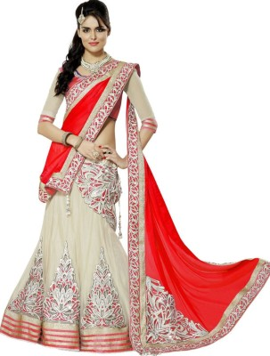 Apka Apna Fashion Embroidered Women's Lehenga, Choli and Dupatta Set(Stitched)