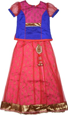 Coffee Bean Girls Lehenga Choli Ethnic Wear Self Design Lehenga Choli(Multicolor, Pack of 1)  available at flipkart for Rs.1499