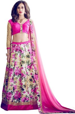 SItaram Brocade, Art Silk, Organza Embellished, Embroidered, Floral Print Dress/Top Material(Un-stitched)