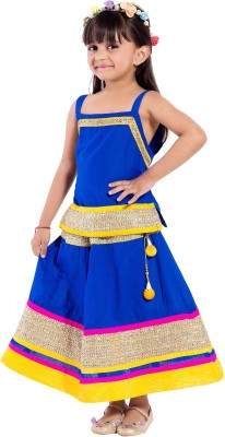 00326f7dee5e 77% OFF on Magnus Girls Lehenga Choli Ethnic Wear Self Design ...