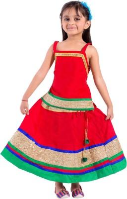Magnus Girls Lehenga Choli Ethnic Wear Embroidered Lehenga Choli(Multicolor, Pack of 1)