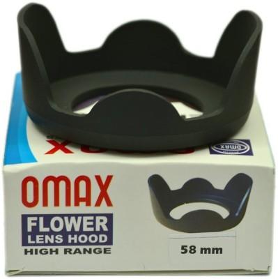 Omax 58mm Flower Lens Hood For Canon 18 55mm Lens  Lens Hood Black