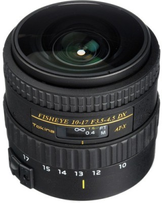 Tokina 10-17mm F3.5-4.5 AT-X107 FX Fisheye  Lens(Black, 10-17mm) at flipkart