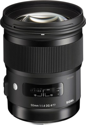 Sigma 50 mm f/1.4 DG HSM Art Lens  Lens for Nikon AF Mount(Black, 28 - 75) at flipkart