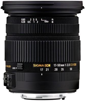 Sigma 17 - 50 mm F2.8 EX DC (OS) HSM for Nikon Digital SLR  Lens(Black) at flipkart