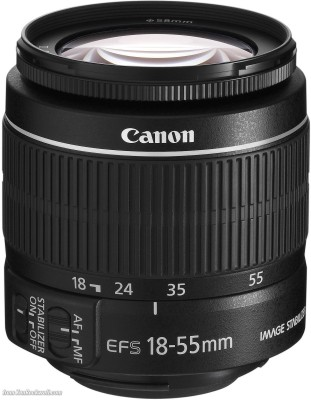 Canon EF-S 18-55mm f/3.5-5.6 IS II Lens�  Lens(Black, Canon EF-S 18-55mm f/3.5-5.6 IS II) 1