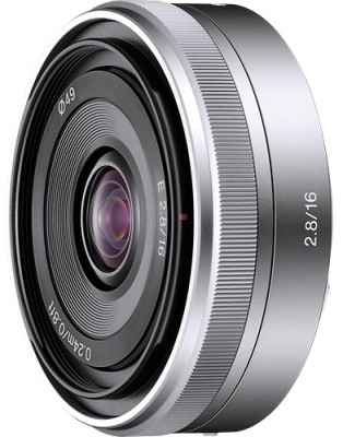 Sony SEL16F28 Interchangeable Alpha E-mount 16 mm F2.8  Lens(Black)