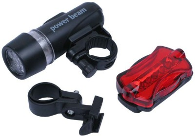 GRV Bright Bicycle Light Combo LED Front Rear Light Combo Black GRV Lights