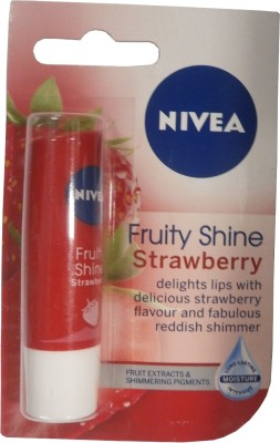 Nivea Fruity Shine Strawberry Lip Balm Berry(4.8 g)
