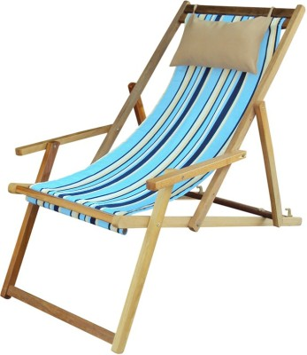 Hangit Multi Stripe Solid Wood Living Room Chair(Finish Color - Natural Wood Finish)