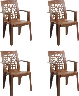 Cello Furniture Plastic Living Room Chair(Finish Color - Sandalwood Brown)